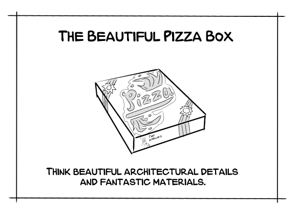 beautiful pizza Box