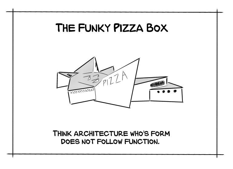funky pizza box