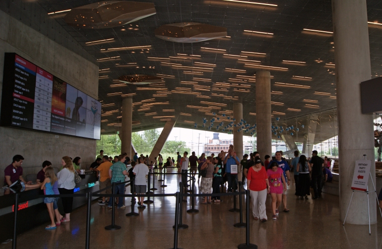 Perot Museum Ticket Counter