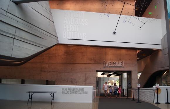 Perot Museum entry atrium