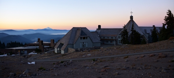 Timberline Lodge in the mountains