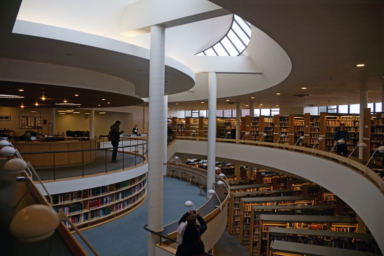 Mt Angel Library atrium 2