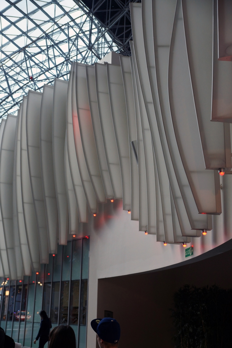 Ferrari World interior Facade detail