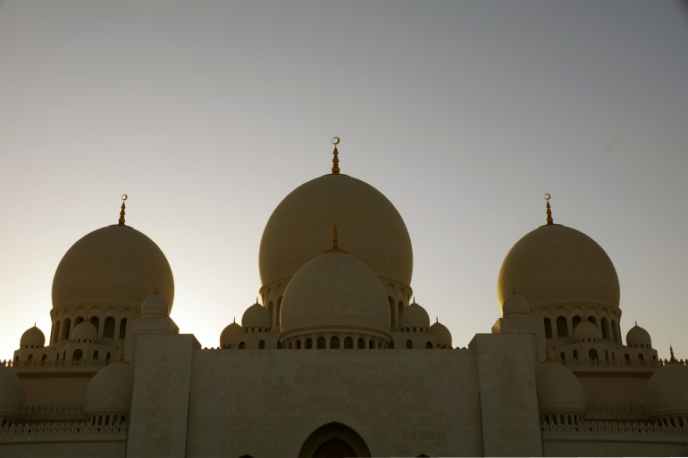 Sheikh Zayed Grand Mosque Silhouette