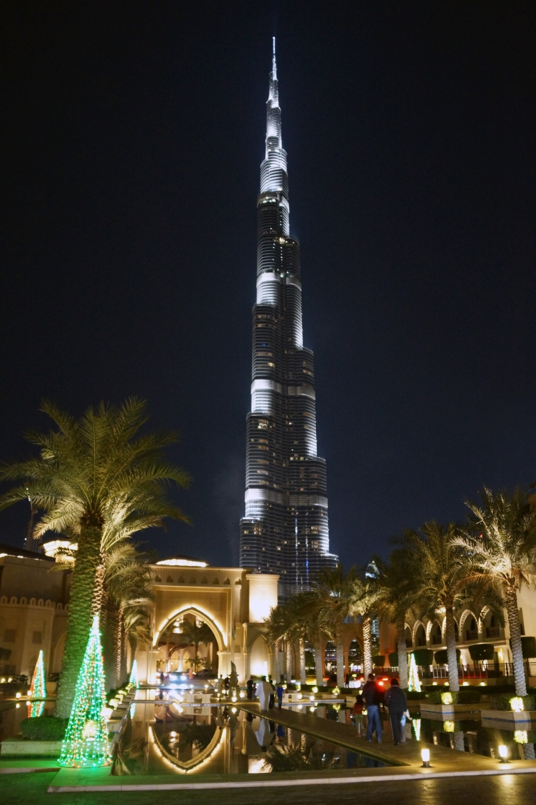 Burj Khalifa at the foot