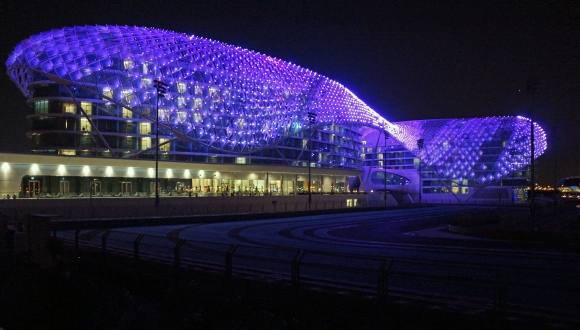 Yas Viceroy Hotel Night Exterior 2