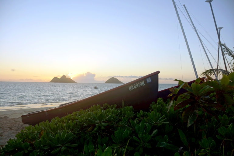 Hawaiian Vacation_Sunrise Boat