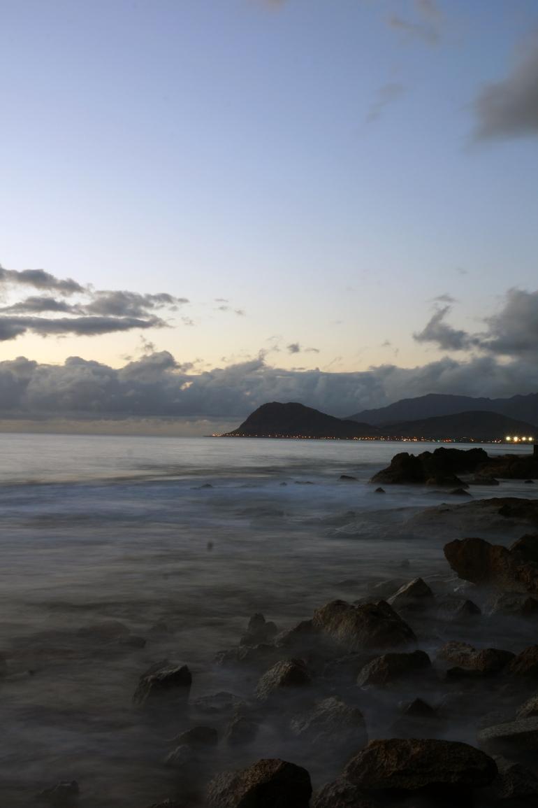 Hawaiian Vacation_Sunset ocean rocks long exposure 2
