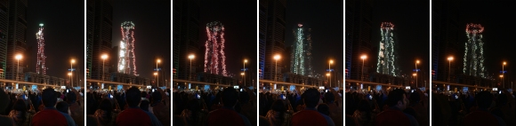 New Years in Dubai_Firework Collage
