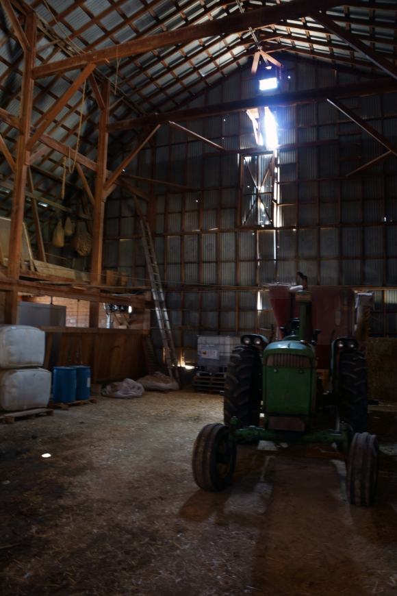 Imperial Stock Ranch_Trctor in Barn