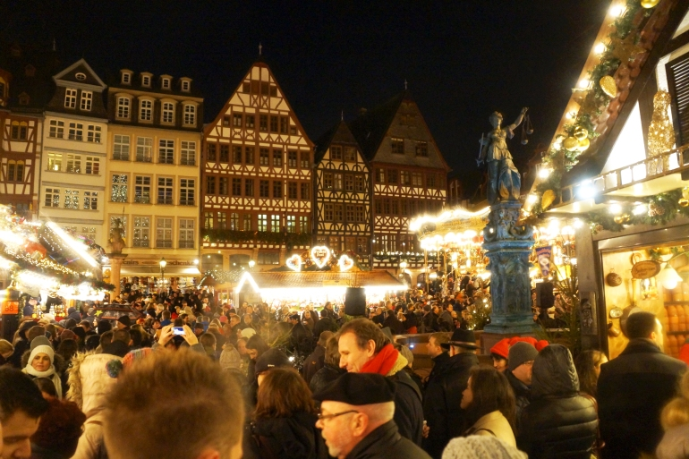 Frankfurt Germany_Christmas Market at Night