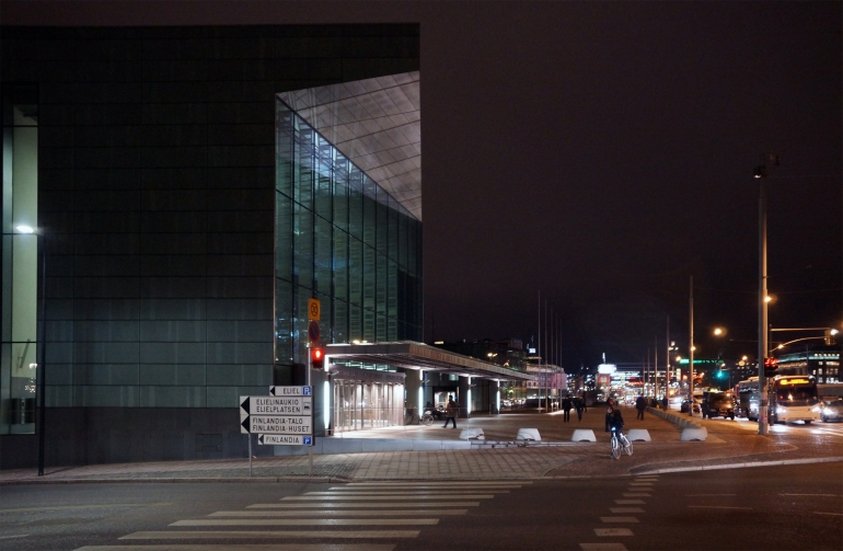 Helsinki Music Centre_Exterior night